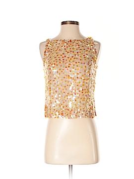 Linda Allard Ellen Tracy Sleeveless Silk Top Size 2