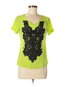 Nanette Lepore Short Sleeve Silk Top Size S
