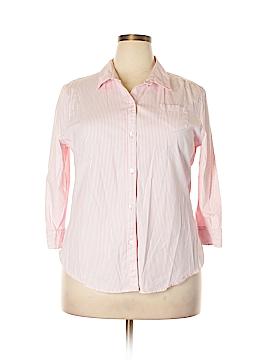 Gap Outlet 3/4 Sleeve Button-Down Shirt Size XXL