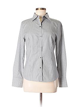 Pink Tartan Long Sleeve Button-Down Shirt Size 6