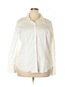 Chadwicks Long Sleeve Button-Down Shirt Size 20w (Plus)