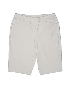 So Slimming by Chico's Khaki Shorts Size Sm (0.5)