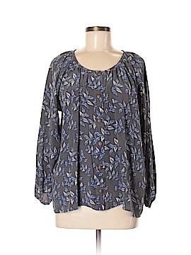 Bayla Jane Long Sleeve Silk Top Size M