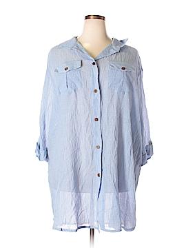 Dotti Long Sleeve Button-Down Shirt Size 3X (Plus)