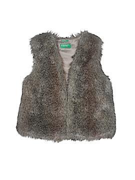 United Colors Of Benetton Faux Fur Vest Size 7 - 8