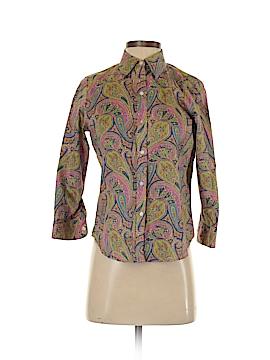 Chaps Long Sleeve Button-Down Shirt Size S (Petite)