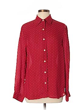 Lauren by Ralph Lauren Long Sleeve Silk Top Size L