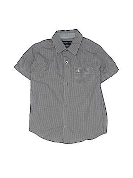 CALVIN KLEIN JEANS Short Sleeve Button-Down Shirt Size 5