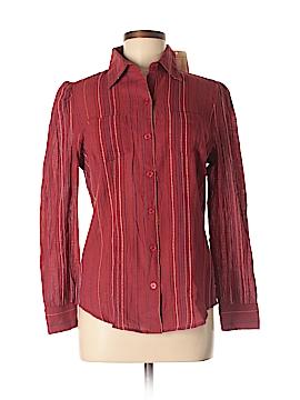 Lemon Long Sleeve Button-Down Shirt Size S