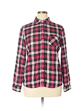 Heart-N-Crush Long Sleeve Button-Down Shirt Size XL