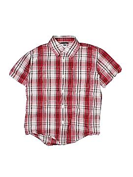 Gap Outlet Short Sleeve Button-Down Shirt Size S (Kids)