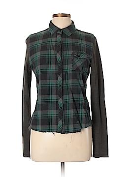Fox Long Sleeve Button-Down Shirt Size L