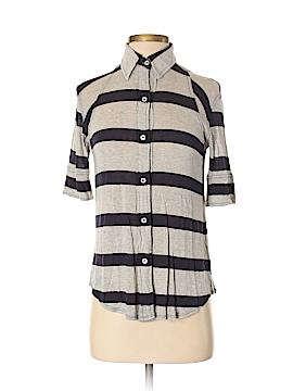 Monrow Short Sleeve Button-Down Shirt Size XS