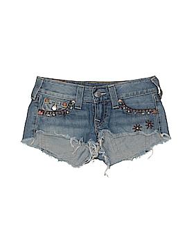 True Religion Denim Shorts 26 Waist