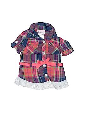 Little Lass Short Sleeve Button-Down Shirt Size 6-9 mo