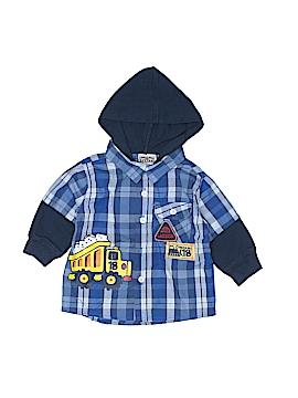 Little Rebel Long Sleeve Button-Down Shirt Size 18 mo