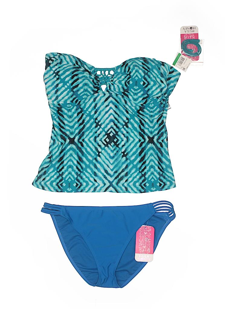 Hula Honey Women Two Piece Swimsuit Size L