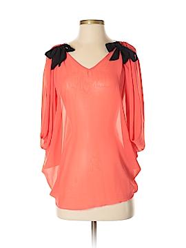 Ya Los Angeles Short Sleeve Silk Top Size S