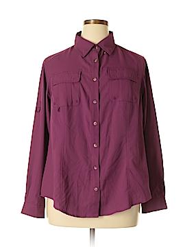 Gander Mtn Long Sleeve Button-Down Shirt Size 1X (Plus)