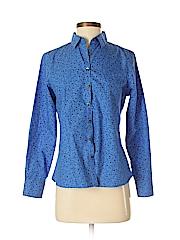 Lands' End Women Long Sleeve Button-Down Shirt Size 4 (Petite)