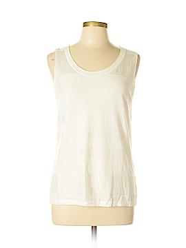 August Silk Sleeveless Top Size L (Petite)