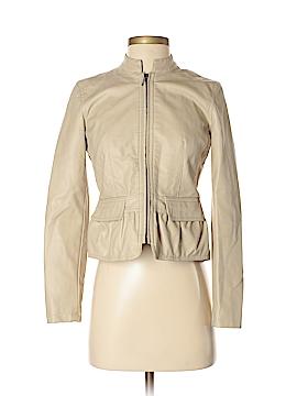 Ann Taylor LOFT Outlet Faux Leather Jacket Size XS (Petite)