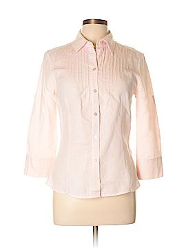 Esprit 3/4 Sleeve Button-Down Shirt Size M