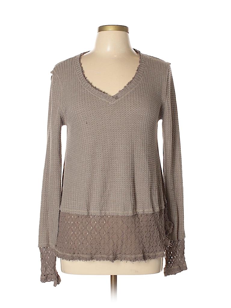 Hem & Thread Women Pullover Sweater Size L