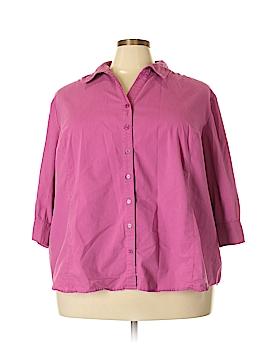 Liz & Me Long Sleeve Button-Down Shirt Size 4X (Plus)
