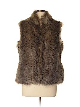 Relativity Faux Fur Vest Size L
