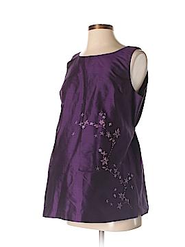 Mimi Maternity Sleeveless Silk Top Size S (Maternity)