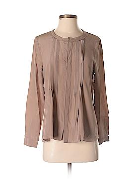 Greylin Long Sleeve Silk Top Size S