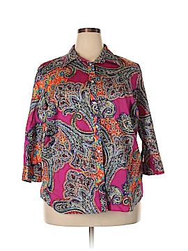 L-RL Lauren Active Ralph Lauren 3/4 Sleeve Blouse Size 2X (Plus)