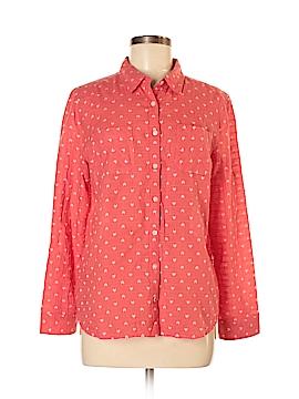 Caslon Long Sleeve Button-Down Shirt Size M (Petite)