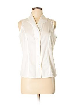 Calvin Klein Sleeveless Button-Down Shirt Size 8