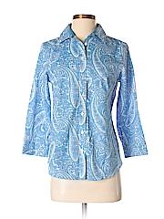 Talbots Women 3/4 Sleeve Button-Down Shirt Size 4