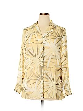 Evan Picone Long Sleeve Blouse Size XL