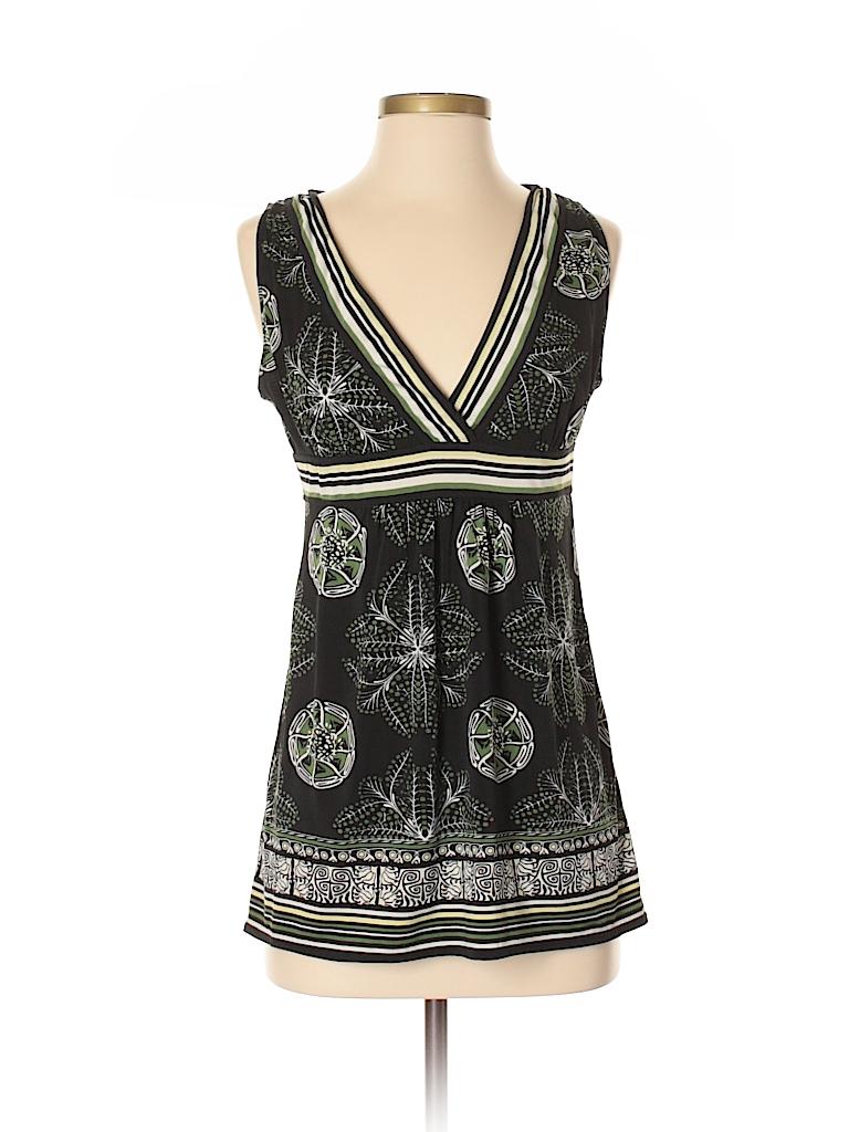 72eb1a7c4e395d Max Studio Stripes Black Sleeveless Blouse Size S - 87% off