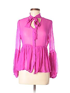 Ark & Co. Long Sleeve Silk Top Size M