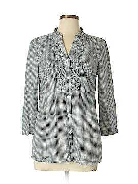 Charter Club 3/4 Sleeve Button-Down Shirt Size 10