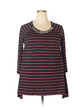 August Silk 3/4 Sleeve Blouse Size XL