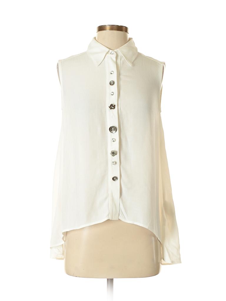 Joseph Ribkoff Women Sleeveless Button-Down Shirt Size 4