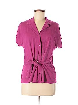 Jones New York Short Sleeve Button-Down Shirt Size L