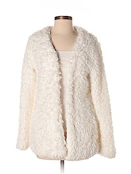 Papaya Faux Fur Jacket Size S