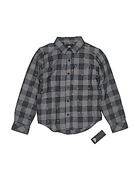 Quiksilver Long Sleeve Button-Down Shirt Size S (Kids)