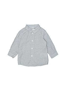 H&M Long Sleeve Button-Down Shirt Size 6-9 mo