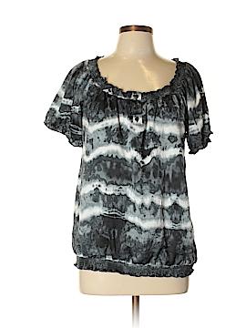 AB Studio Short Sleeve Blouse Size L