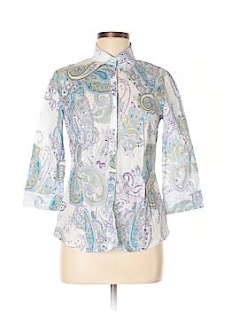 Gerry Weber 3/4 Sleeve Button-Down Shirt Size 6