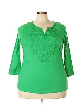 Carolyn Taylor 3/4 Sleeve Top Size 1X (Plus)