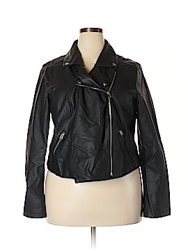 Boutique + Faux Leather Jacket Size 1X (Plus)